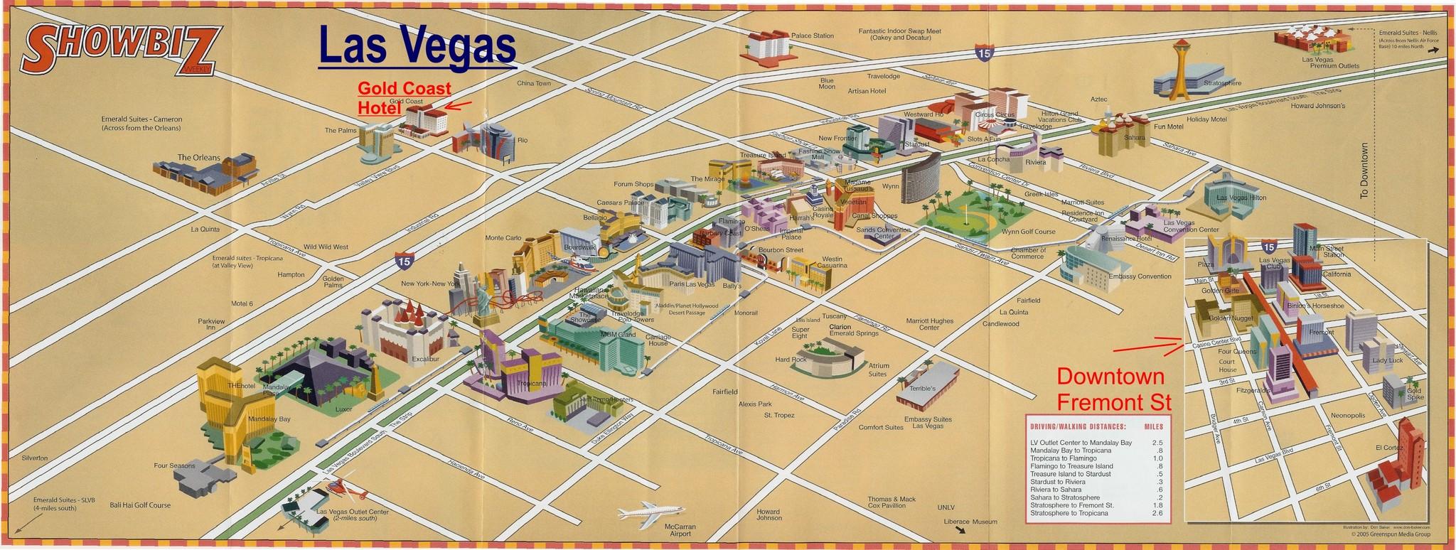 Karte Las Vegas