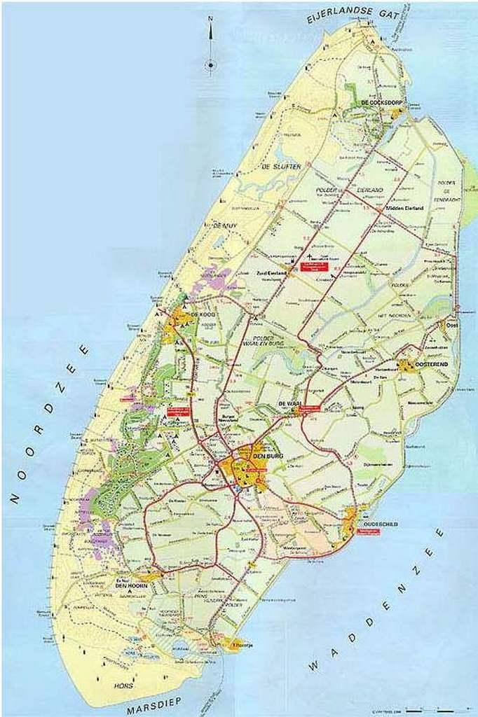 texel karte Karte Texel Holland | Kleve Landkarte